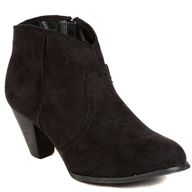 Non Leather Black Boots For Womens -tb1
