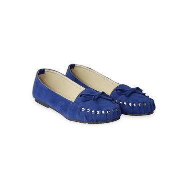 Ten Suede Blue Loafers -ts108