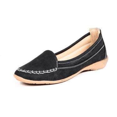 Ten Fabric Black Loafers -ts213