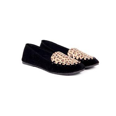 Ten Suede Black Loafers -ts132