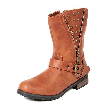 Leather Tan Boots For Womens -tb32