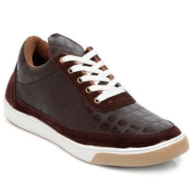 Ten Brown Leather Sneakers -mtj16