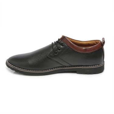 Ten Black Leather Casual Shoes -mtj22
