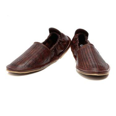 Ten Brown Leather Mojari -mtj01