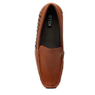 Ten Tan Leather Loafers -mtj04
