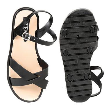 Ten PVC Black Sandals -ts310