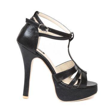 Ten Synthetic Black Stilettos -ts30