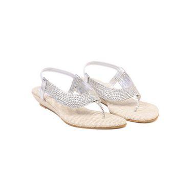 Ten Jute Fabric 305 Women's Sandals - Silver