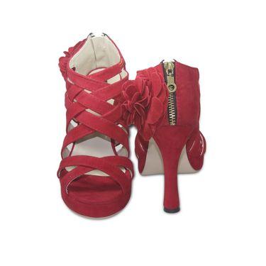 Ten Suede Red Stilettos -ts38