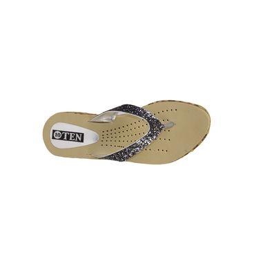 Ten Synthetic Grey & Beige Slippers -ts52