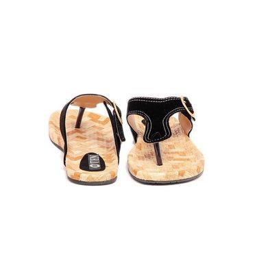 Ten Suade Leather 234 Women's Sandals - Black