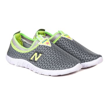 Ten Mesh Grey Womes Sports Shoes -ts331