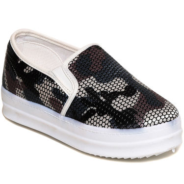Fabric Multicolor & Black Sneakers -snkrntblk01