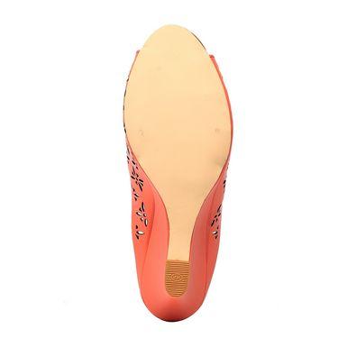 Synthetic Leather Orange Wedges -575Orng03