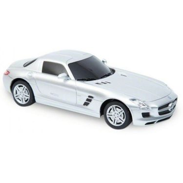 1:24 Scale Licenced RC Mercedes Benz SLS AMG with Shock Absorber and LED Lights (Silver)