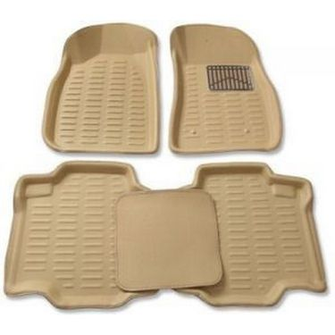 3D Foot Mats for Volkswagen Polo Cross Black Color -TGS-3D Black 141