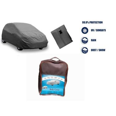 Mahindra NuvoSport Car Body Cover  imported Febric with Buckle Belt and Carry Bag-TGS-G-WPRF-70