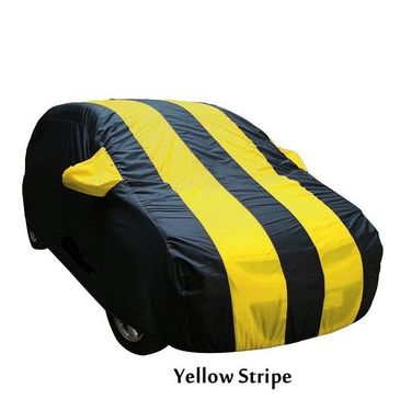 Mahindra Quanto Car Body Cover  imported Febric with Buckle Belt and Carry Bag-TGS-G-WPRF-71