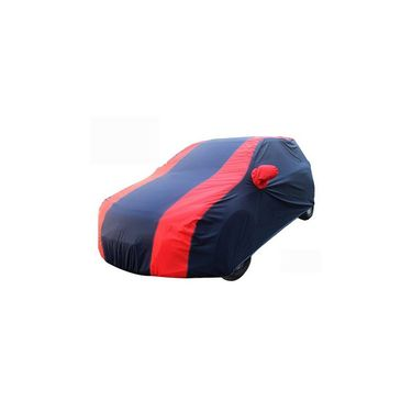 Datsun GO Plus Car Body Cover Red Blue imported Febric with Buckle Belt and Carry Bag-TGS-RB-13