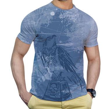 Effit Printed Casual Tshirts_Trsb0609 - Sky Blue
