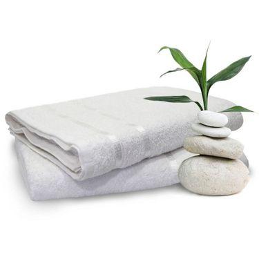 Storyathome White Cotton Ladies Bath Towel-TW1201-L