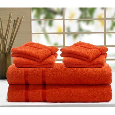 Story@Home 6 Pcs Premium Towel Combo 100% Cotton-Orange-TW1205_2X-2M