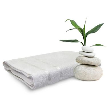 Set of 2 Storyathome White Cotton womens Bath Towel-TW_2-1201-L