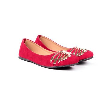 Ten Suede Leather 004 Bellies - Red