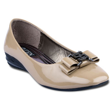 Ten Patent Leather Bellies For Women_tenbl004 - Beige