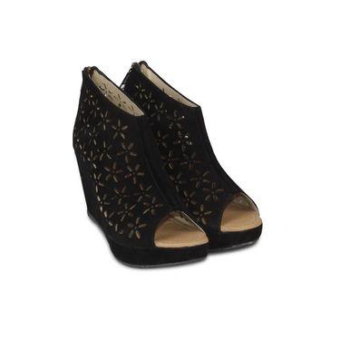 Ten Suede Leather Pumps For Women_tenbl095 - Black