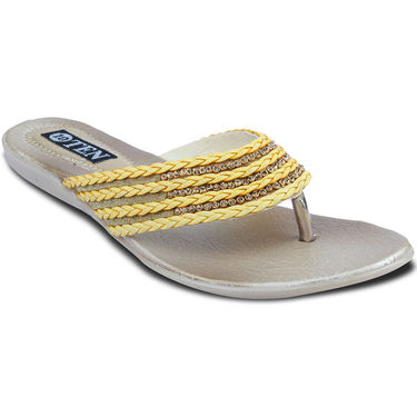 Ten Synthetic Sandals For Women_tenbl167 - Yellow