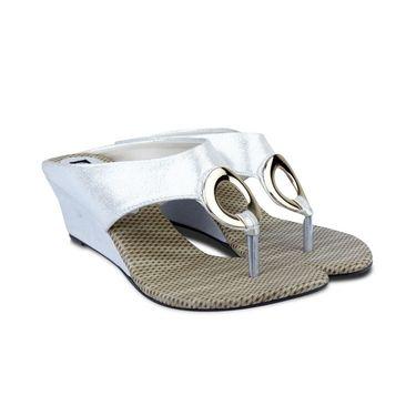 Ten Synthetic Sandals For Women_tenbl198 - Silver