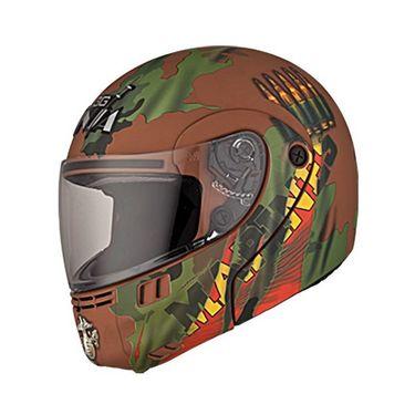 Studds - Full Face Helmet - Ninja 3G Decor FlipUp (D2 Matte Brown) [Extra Large - 60 cms]