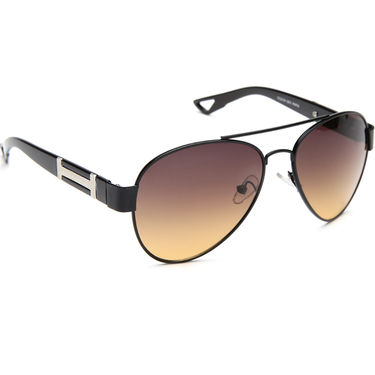 Alee Metal Oval Unisex Sunglasses_138 - Brown