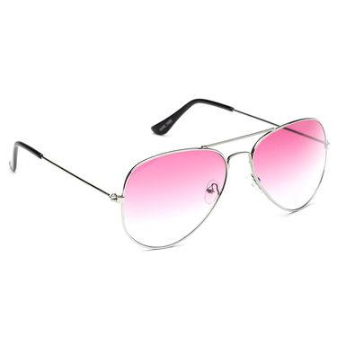 Alee Metal Oval Unisex Sunglasses_119 - Pink