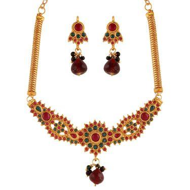 Variation Multi Coloured Beads Necklace Set_Vd15385