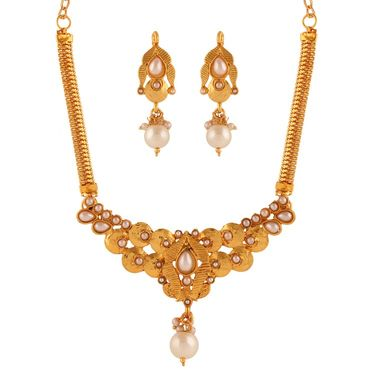 Variation White Pearl Necklace Set_Vd15939
