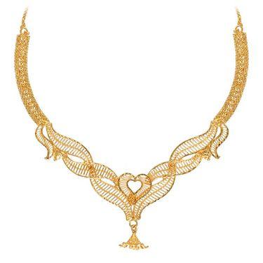 Vendee Fashion Heritage Necklace Set - Golden - 8337