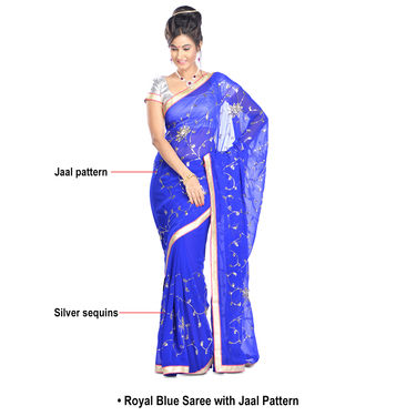 Vidya Collection of 5 Partywear Embroidered Sarees by Zuri (5DS1)