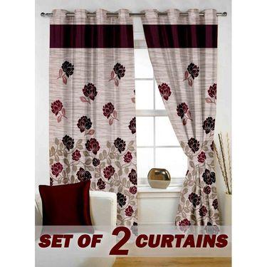 Set of 2 Printed Window curtain-5 feet-WBR_2_4015