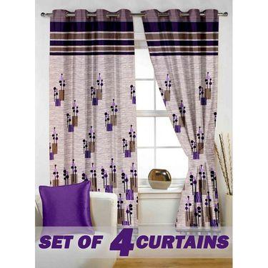 Set of 4 Printed Window curtain-5 feet-WBR_4_4014