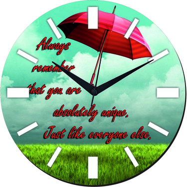 meSleep Rain Wall Clock With Glass Top-WCGL-01-46
