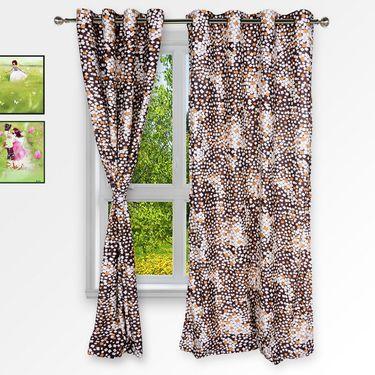 Story @ Home Maroon 2 pc Window curtain-5 feet-WNR2077