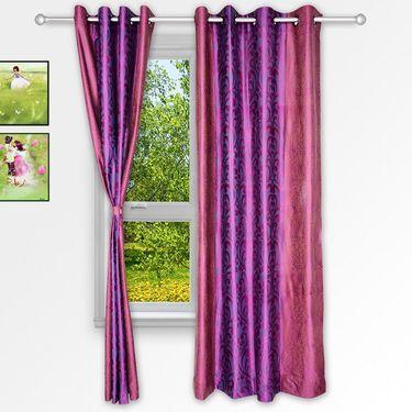 Story @ Home Pink 2 pc Window curtain-5 feet-WNR3028