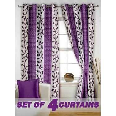 Set of 4 Printed Window curtain-5 feet-WNR_2_2026