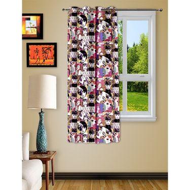 Story @ Home 1 pc Digital Print Window curtain-5 feet-WRT1106