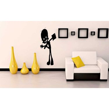 Black Funny Decorative Wall Sticker-WS-08-216