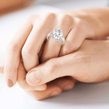 Kiara Jewellery Certified White Topaz 3.0 cts & 3.25 Ratti White Topaz Ring_Whtzrw