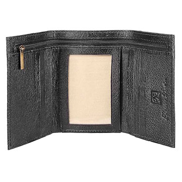 Walletsnbags Trifold Leather Wallet - Black