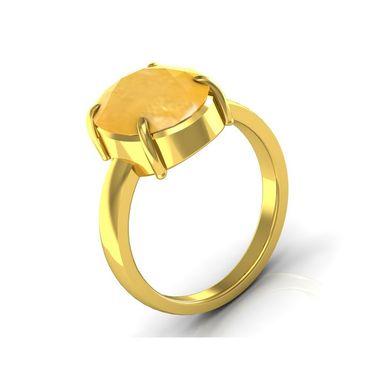 Kiara Jewellery Certified Pukhraj 3.0 cts & 3.25 Ratti Yellow Sapphire Ring_Ysry